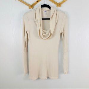 Splendid Cream Long Sleeve Cowl Neck Thermal
